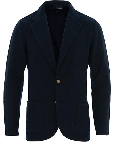 Lardini Knitted Wool Blazer Blue