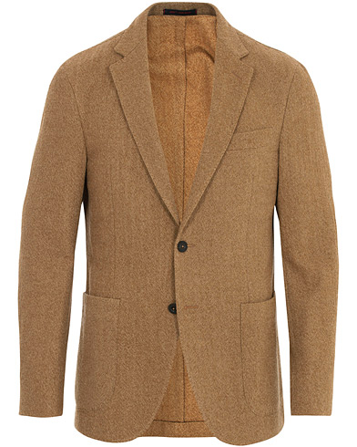 The Gigi Structured Wool Jersey Blazer Camel i gruppen Kläder / Kavajer / Bomullskavajer hos Care of Carl (16314711r)