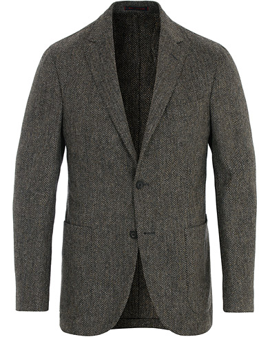 The Gigi Herringbone Tweed Blazer Grey i gruppen Kläder / Kavajer / Tweedkavajer hos Care of Carl (16314911r)