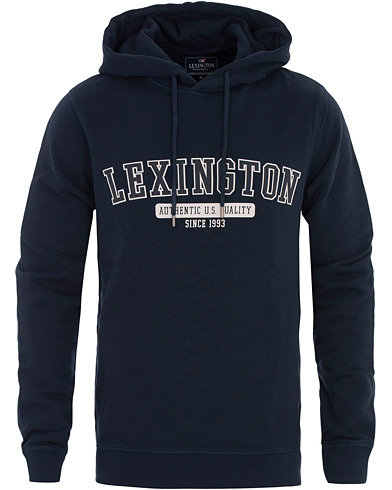 Lexington Perry Hood Dark Blue i gruppen Kläder / Tröjor / Huvtröjor hos Care of Carl (16356411r)