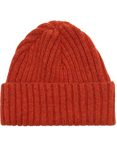 Sunspel Chunky Rib Hat Burnt Sienna