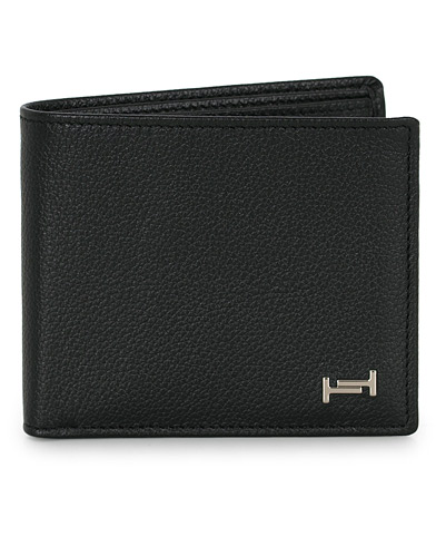 Tod's Grain Leather Wallet Black Calf  i gruppen Accessoarer / Plånböcker hos Care of Carl (16370710)