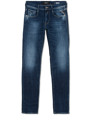 Replay Anbass Powerstretch 5 Years Wash Jeans Medium Blue i gruppen Kläder / Jeans hos Care of Carl (16371011r)