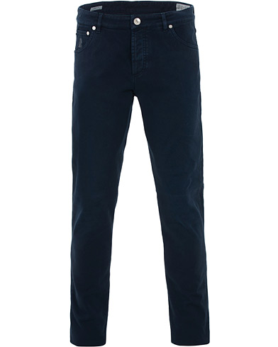 Brunello Cucinelli Slim Fit 5-Pocket Cotton Twill Pants Navy i gruppen Kläder / Byxor / 5-ficksbyxor hos Care of Carl (16379711r)