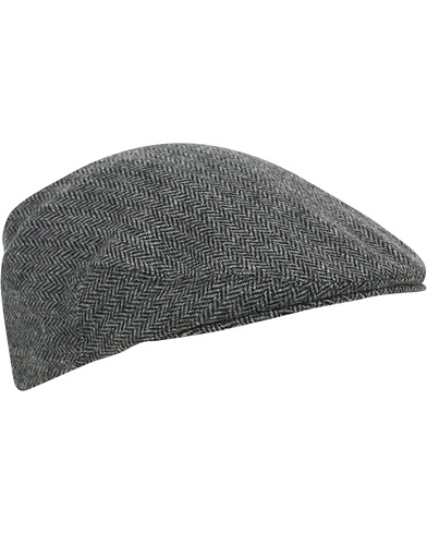 Lock & Co Hatters Gill Herringbone Cap Black/Grey i gruppen Accessoarer / Hattar & kepsar hos Care of Carl (16410311r)