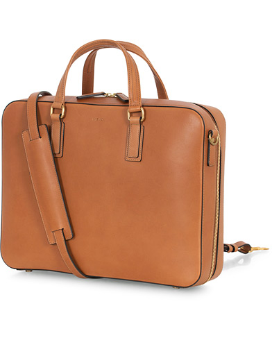 Mismo Morris Leather Briefcase Tabac  i gruppen Accessoarer / Väskor hos Care of Carl (16448510)