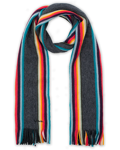Paul Smith Artist Twisted Block Wool Scarf Black  i gruppen Accessoarer / Halsdukar hos Care of Carl (16458910)