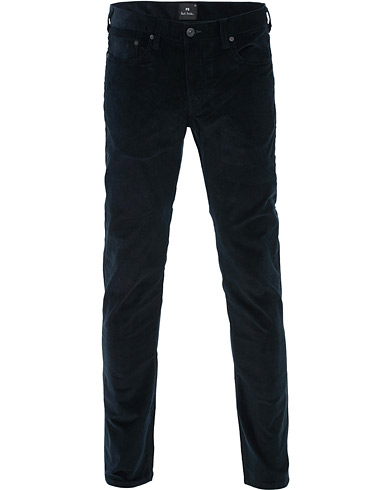 PS Paul Smith Slim Fit Corduroy Trousers Navy i gruppen Kläder / Byxor / Manchesterbyxor hos Care of Carl (16463111r)
