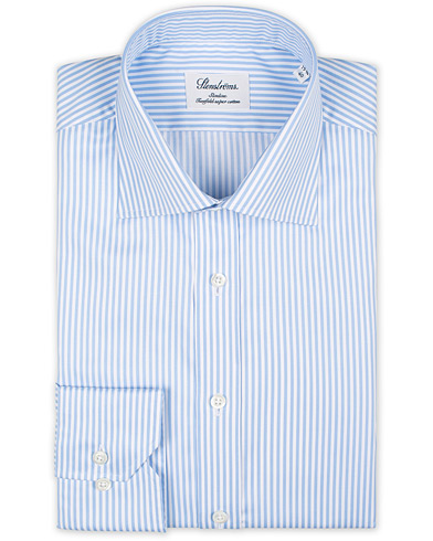 Stenströms Slimline Stripe Shirt White/Light Blue i gruppen Kläder / Skjortor / Formella hos Care of Carl (16473511r)