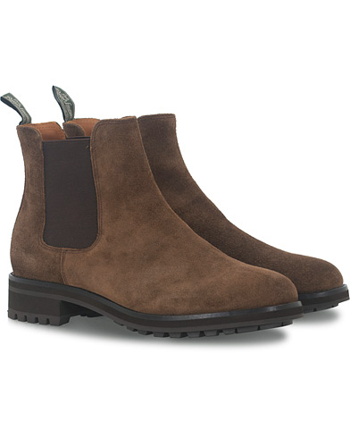 Polo Ralph Lauren Bryson Chelsea Boot Brown Suede i gruppen Skor / Kängor / Chelsea boots hos Care of Carl (16482011r)