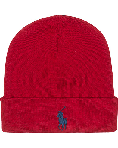 Polo Ralph Lauren Cotton Beanie Red  i gruppen Accessoarer / Mössor hos Care of Carl (16489710)