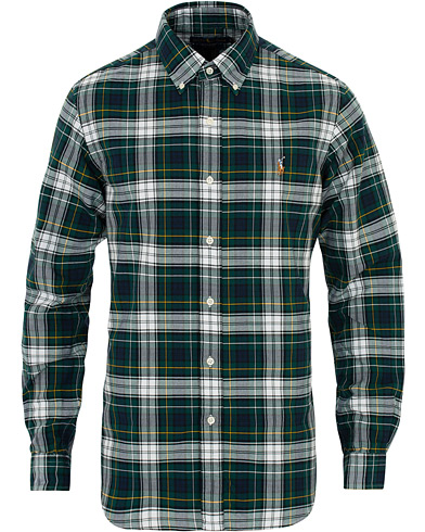 Polo Ralph Lauren Core Fit Oxford Check Shirt Green i gruppen Kläder / Skjortor / Casual hos Care of Carl (16496111r)