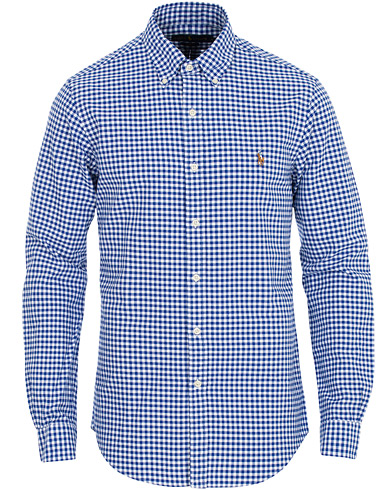 Polo Ralph Lauren Slim Fit Oxford Check Shirt Blue/White i gruppen Kläder / Skjortor / Casual hos Care of Carl (16496211r)