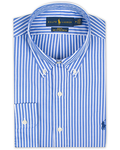 Polo Ralph Lauren Slim Fit Stripe Shirt Blue/White i gruppen Kläder / Skjortor / Formella hos Care of Carl (16496911r)