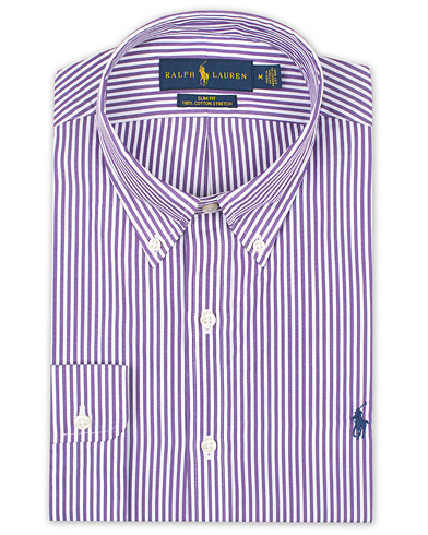 Polo Ralph Lauren Slim Fit Stripe Shirt Purple/White i gruppen Kläder / Skjortor / Formella hos Care of Carl (16497011r)