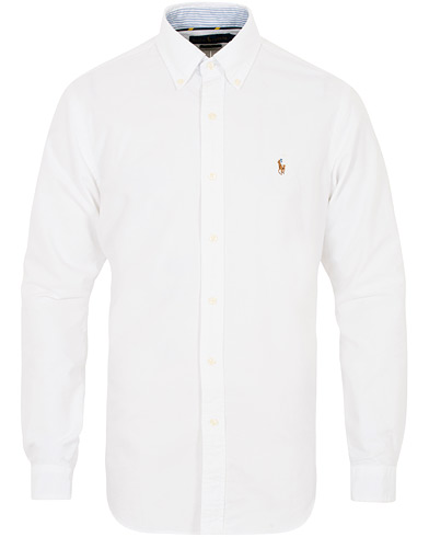 Polo Ralph Lauren Core  Fit Contrast Oxford Shirt White i gruppen Kläder / Skjortor / Casual hos Care of Carl (16497811r)