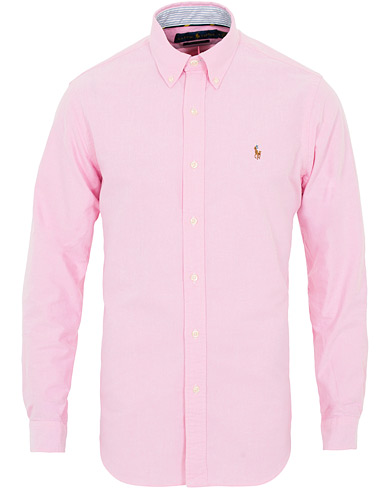 Polo Ralph Lauren Core  Fit Contrast Oxford Shirt Pink i gruppen Kläder / Skjortor / Casual hos Care of Carl (16497911r)