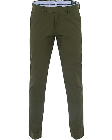 Polo Ralph Lauren Tailored Slim Fit Hudson Chino Olive i gruppen Kläder / Byxor / Chinos hos Care of Carl (16499911r)