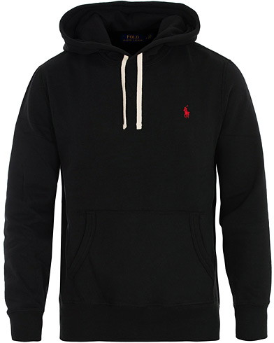 Polo Ralph Lauren RL Fleece Hoodie Black i gruppen Kläder / Tröjor / Huvtröjor hos Care of Carl (16507811r)