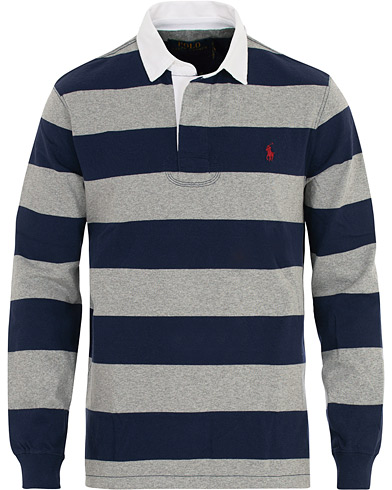 Polo Ralph Lauren Stripe Rugger Grey/Navy i gruppen Kläder / Tröjor / Rugbytröjor hos Care of Carl (16508311r)