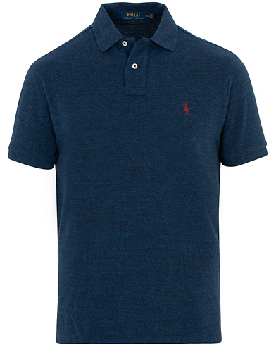 Polo Ralph Lauren Custom Slim Fit Polo Monroe Blue Heather i gruppen Kläder / Pikéer / Kortärmade pikéer hos Care of Carl (16508711r)