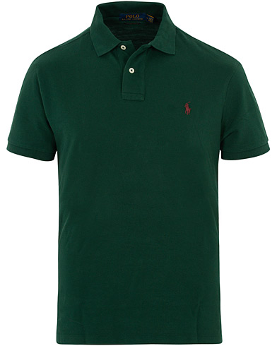 Polo Ralph Lauren Custom Slim Fit Polo Green i gruppen Kläder / Pikéer / Kortärmade pikéer hos Care of Carl (16508911r)