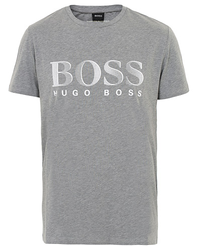 BOSS Logo Crew Neck Tee Grey i gruppen Kläder / T-Shirts / Kortärmade t-shirts hos Care of Carl (16522911r)