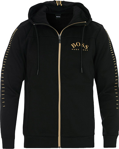 BOSS Athleisure Saggy Win Full Zip Hoodie Black/Gold i gruppen Kläder / Tröjor / Huvtröjor hos Care of Carl (16528311r)