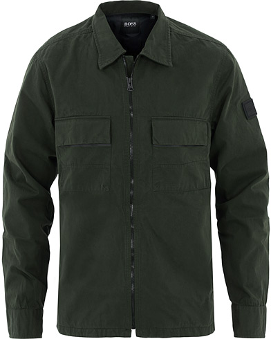 BOSS Casual Lovel Zip Overshirt Green i gruppen Kläder / Skjortor / Casual hos Care of Carl (16530611r)