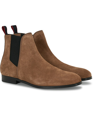HUGO Boheme Chelsea Boot Brown Suede i gruppen Skor / Kängor hos Care of Carl (16531511r)