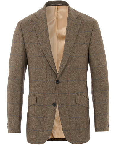Walker Slater Edward Tweed Windowpane Blazer Brown i gruppen Kläder / Kavajer / Tweedkavajer hos Care of Carl (16536311r)
