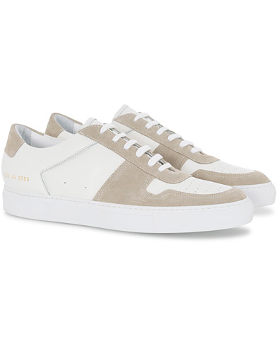 Common Projects B Ball Premium Leather/Suede Sneaker White i gruppen Skor / Sneakers hos Care of Carl (16543011r)