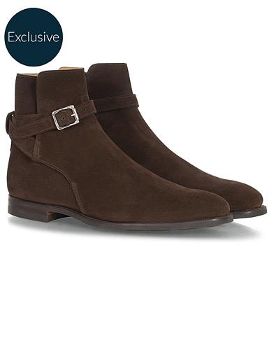 Crockett & Jones Cottesmore Jodhpur Boot Dark Brown Suede