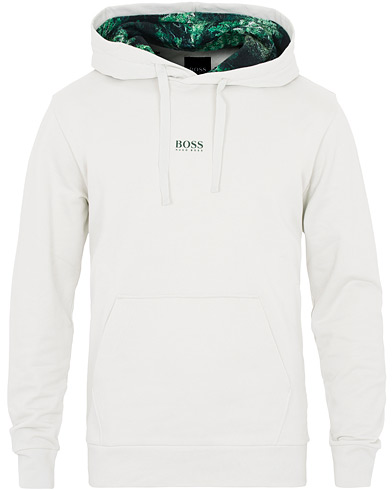 BOSS Casual Wfree Logo Hoodie White i gruppen Kläder / Tröjor / Huvtröjor hos Care of Carl (16628011r)