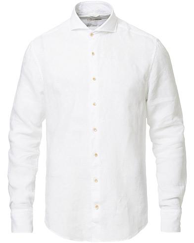 Stenströms Slimline Fullspread Linen Shirt White