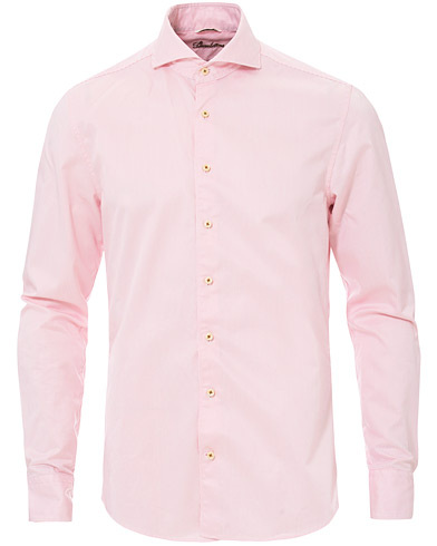 Stenströms Slimline Striped Twill Cut Away Shirt White/Pink i gruppen Kläder / Skjortor / Casual hos Care of Carl (16676511r)