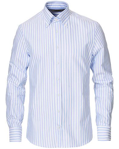 Stenströms Slimline Striped Button Down Oxford Shirt Blue 38 - S