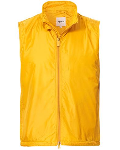 Aspesi Vernes Nylon Vest Yellow