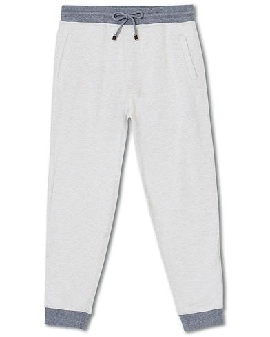 Brunello Cucinelli Super Light Cotton Jogging Trousers Light Beige