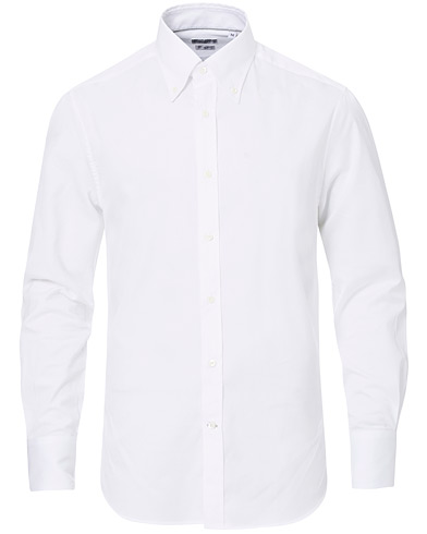 Brunello Cucinelli Twill Cotton Button Down Shirt White