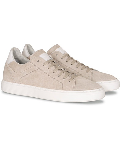 Brunello Cucinelli Classic Sneakers Light Grey Suede