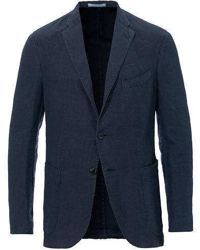 Boglioli K Jacket Linen Blazer Dark Blue