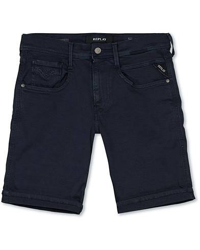 Replay Anbass Hyperflex Jeans Shorts  Navy i gruppen Kläder / Shorts / Jeansshorts hos Care of Carl (16726811r)