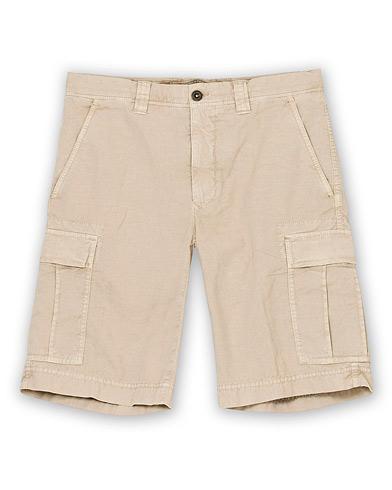 Incotex Cotton Cargo Shorts Beige