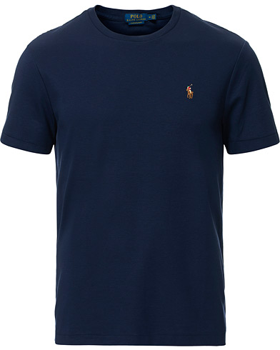 Polo Ralph Lauren Luxury Pima Cotton Crew Neck Tee French Navy i gruppen Kläder / T-Shirts / Kortärmade t-shirts hos Care of Carl (16762911r)