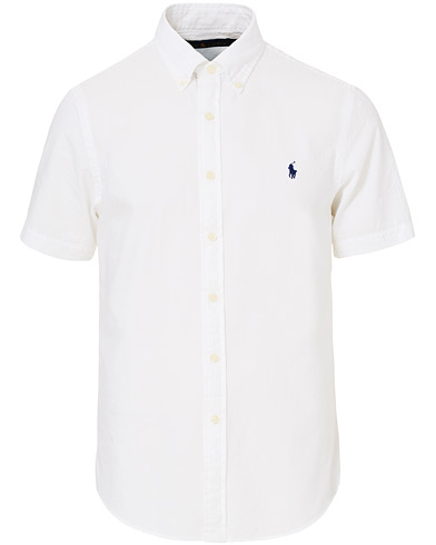 Polo Ralph Lauren Slim Fit Seersucker Short Sleeve Shirt White i gruppen Kläder / Skjortor / Casual hos Care of Carl (16768011r)