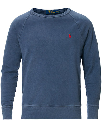Polo Ralph Lauren Spa Terry Crew Neck Sweatshirt Cruise Navy i gruppen Kläder / Tröjor / Sweatshirts hos Care of Carl (16783411r)