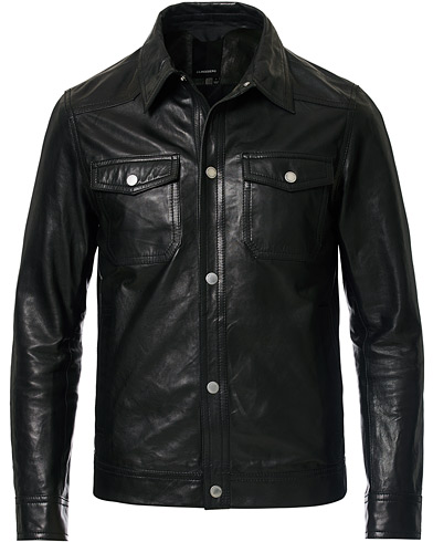 J.Lindeberg Matt Leather Jacket Black