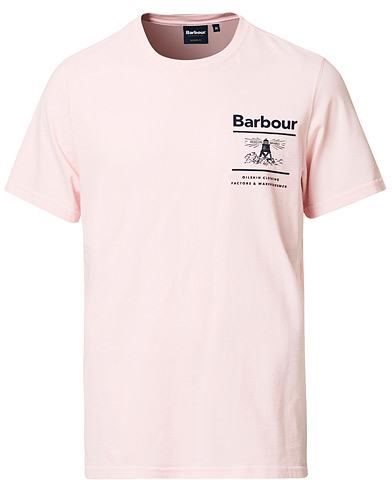 Barbour Lifestyle Chanonry Crew Neck Tee Pink i gruppen Kläder / T-Shirts / Kortärmade t-shirts hos Care of Carl (16847111r)