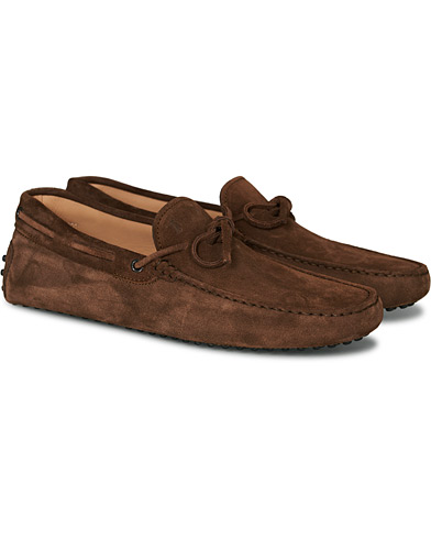 Tod's Laccetto Gommino Carshoe  Light Brown Suede